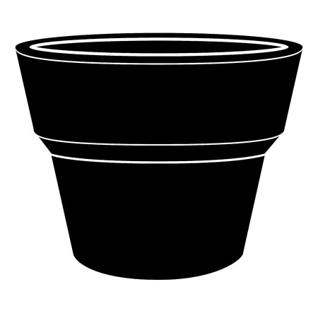 Empty flower pot icon Vector illustration.