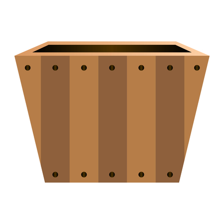 Isolated empty flower pot