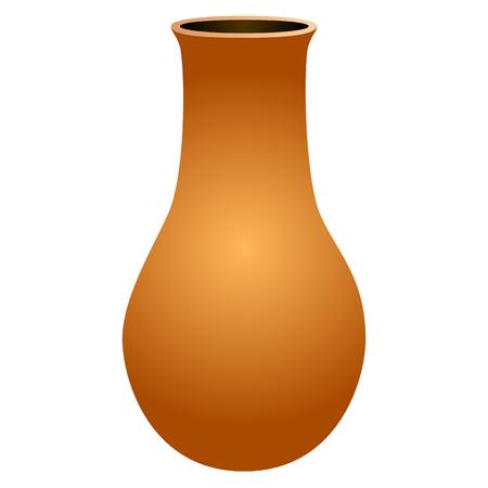 Isolated empty flower pot. Vector illustration design Illustration