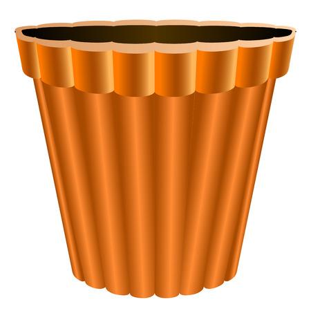 Isolated empty flower pot