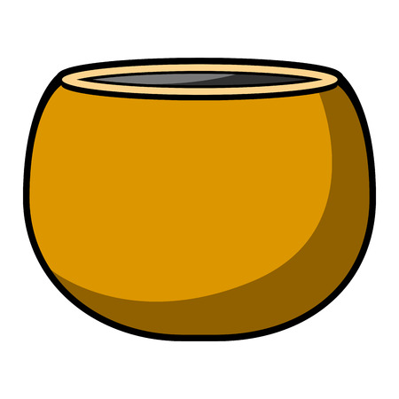 Isolated empty flower pot icon. Vector illustration design Vettoriali