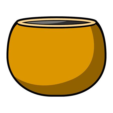 Isolated empty flower pot icon. Vector illustration design Illustration