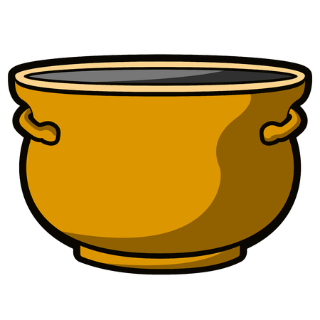 Isolated empty flower pot icon. Vector illustration design Vectores