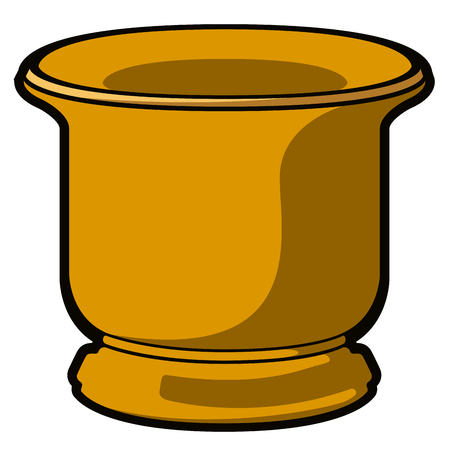Isolated empty flower pot icon. Vector illustration design Stock Illustratie