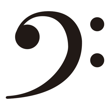 Isolated f-clef musical note. Vector illustration design 向量圖像