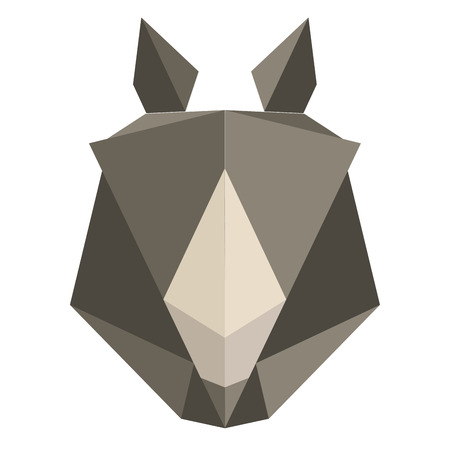 Abstract low poly rhino icon Иллюстрация