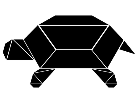 Abstract low poly turtle icon. Vector illustration design