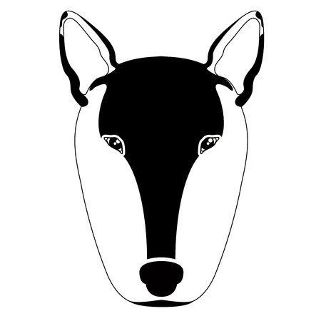 Silhouette of a bull terrier avatar
