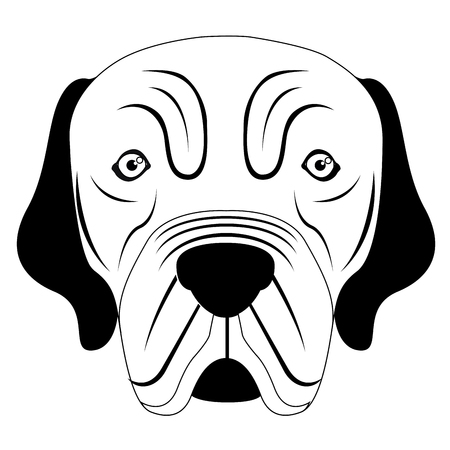 Silhouette of a neapolitan mastiff avatar Illustration