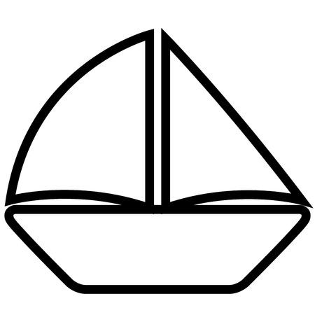 Isoalted sailboat icon Illustration
