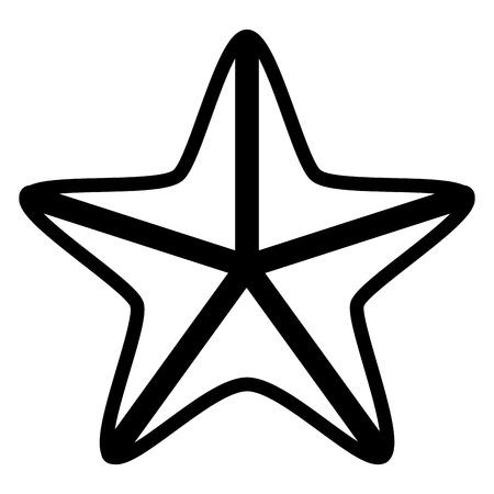 Isolated seastar icon