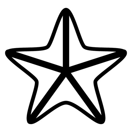 Isolated seastar icon