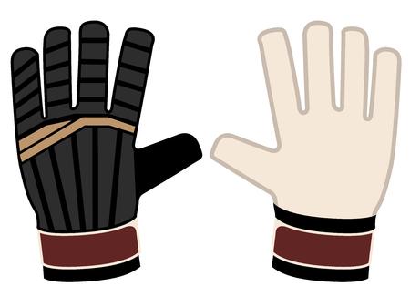 Isolated goalkeeper gloves icon Stock Illustratie