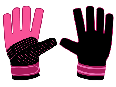 Isolated goalkeeper gloves icon Illustration