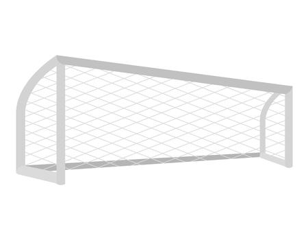 Geïsoleerde voetbal netto pictogram
