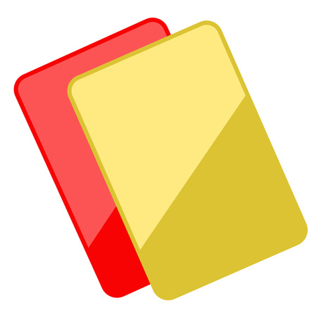 Isolated red and yellow card