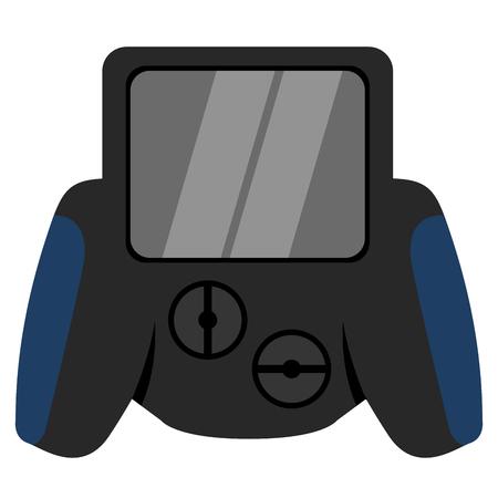 Isolated joystick toy Illustration