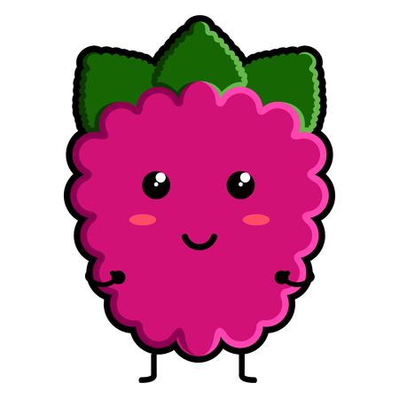 Cute raspberry emoticon