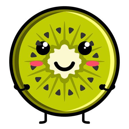 Cute kiwi emoticon Illustration
