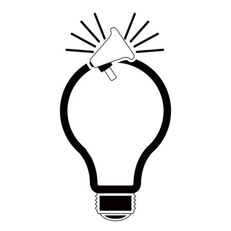 Isolated lightbulb silhouette Ilustracja