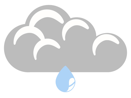 Isolated rainy weather icon