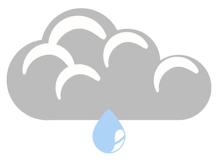 Isolated rainy weather icon