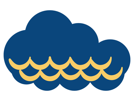 Isolated cloudy weather icon Illustration