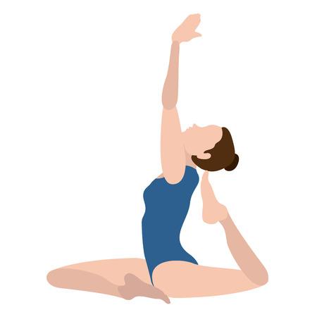 Girl practicing yoga Illustration