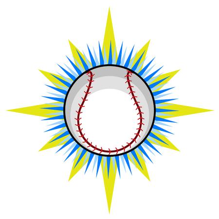 Isolated baseball ball icon