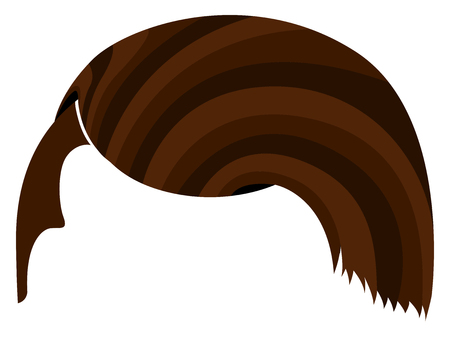 Hair hipster icon isolated on a white background