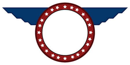 Isolated american emblem