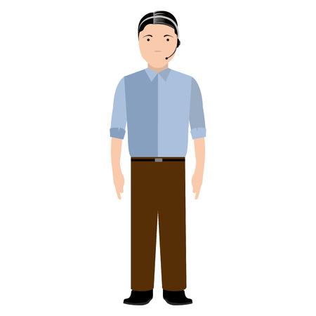 Isolated customer service avatar