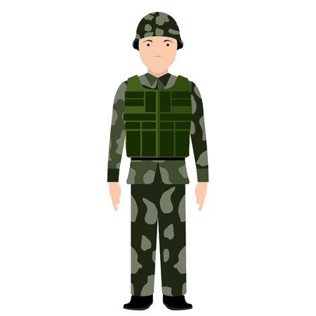 Isolated soldier avatar