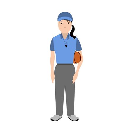 Isolated physical education teacher avatar