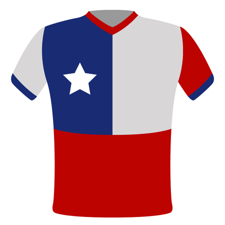 Flag t-shirt of Chile. Vector illustration design