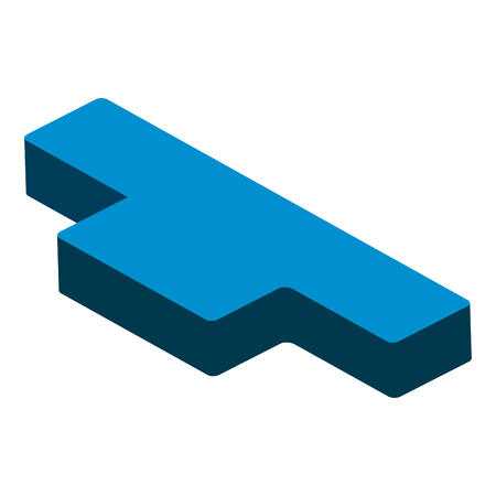 Isometric half rest musical note