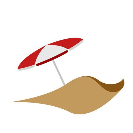 Isolated summer umbrella icon. Vector illustration design Vettoriali