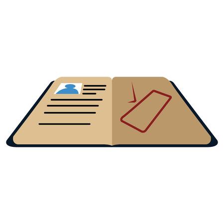 Isolated open passport icon. Vector illustration design