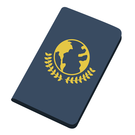 Isolated passport icon image. Vector illustration design Illustration