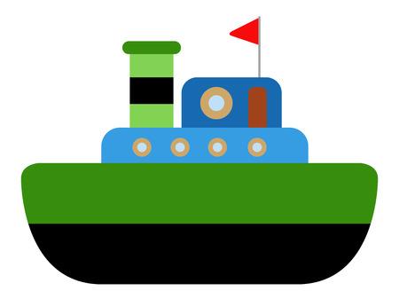 Isolated ship toy icon. Vector illustration design Illustration