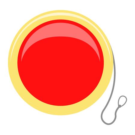Isolated yo-yo toy icon. Vector illustration design Illustration