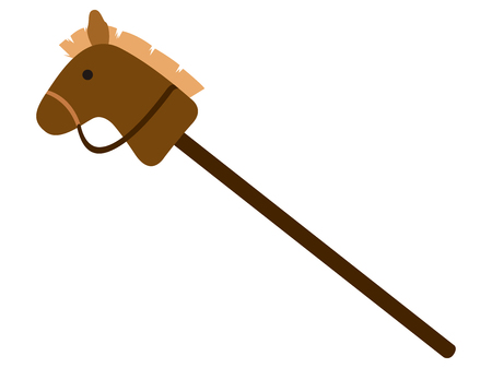 Isolated horse stick toy icon. Vector illustration design