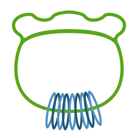 Isolated baby rattle toy icon. Vector illustration design