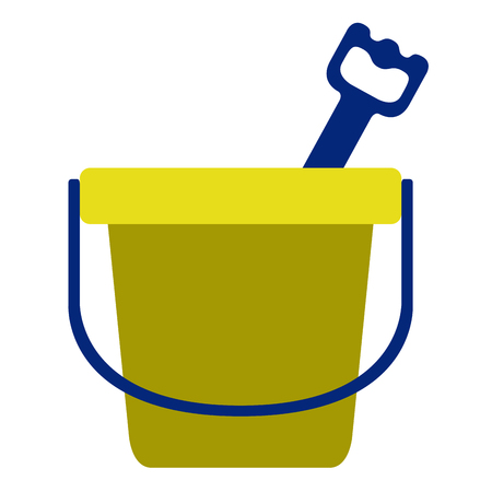 Isolated sand bucket toy icon. Vector illustration design