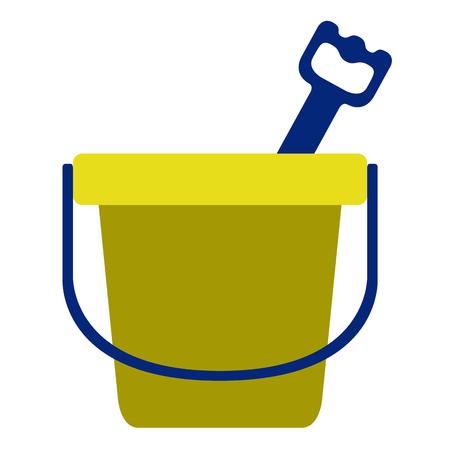 Isolated sand bucket toy icon. Vector illustration design