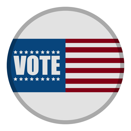 United states campaign button Illustration