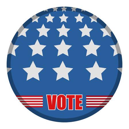 United states campaign button Stock Photo