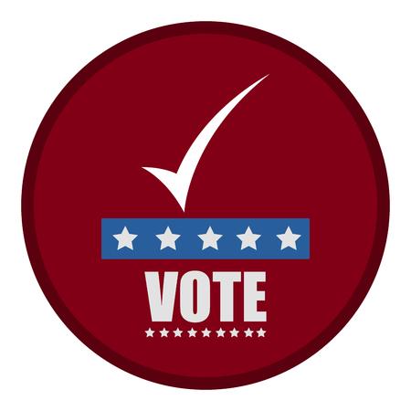 United states campaign button Vecteurs