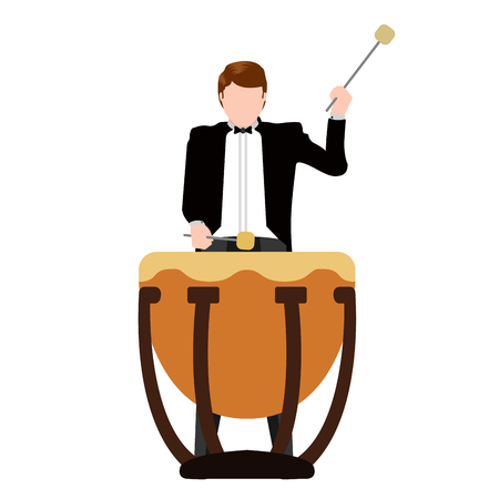 Isolated musician with a drum icon. Vector illustration design Illusztráció