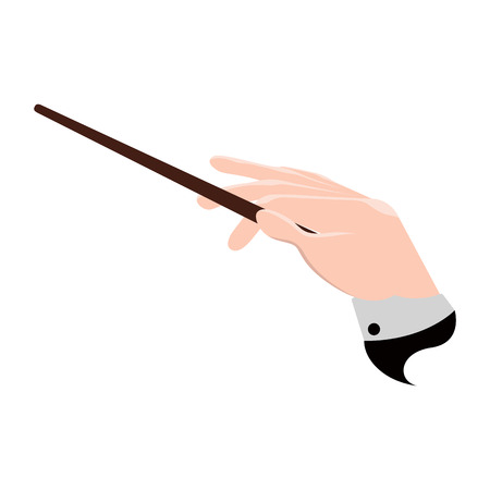 Isolated conductor hand icon. Vector illustration design